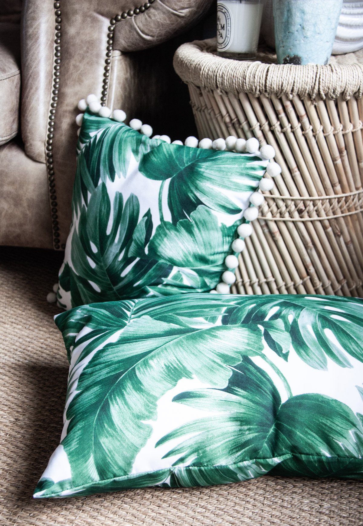 Zeitgeist Living Palmenblatt Kissen und Dekoria