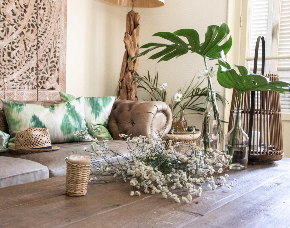 Zeitgeist Living Monstera & grüne Kissen von dekoria