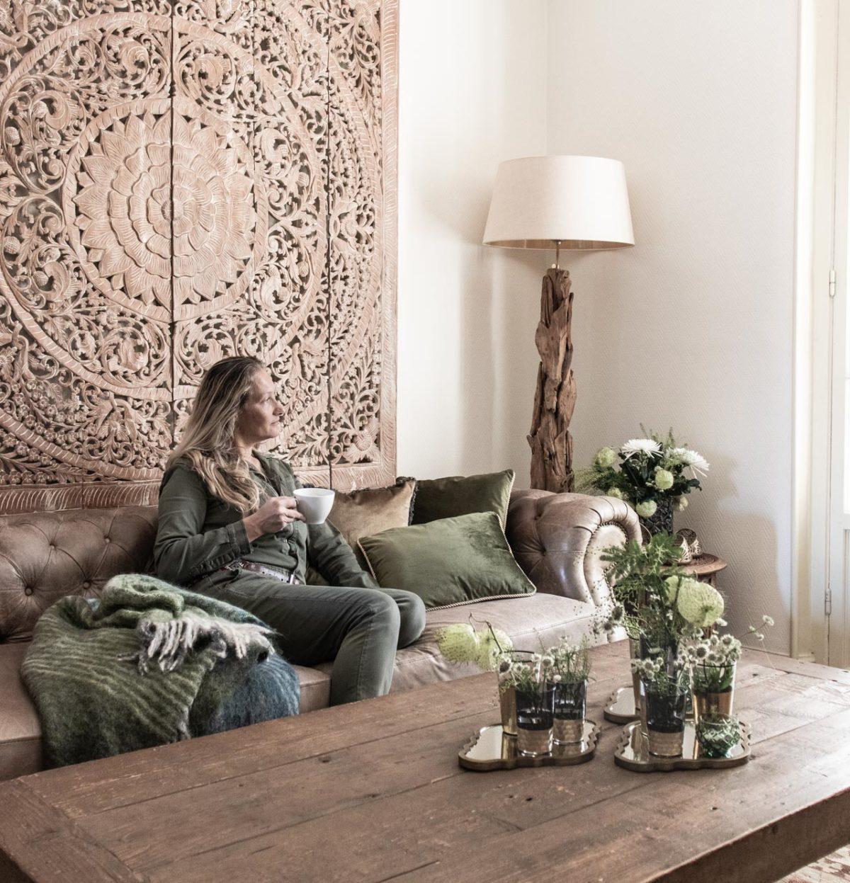 Zeitgeist Living Wohnzimmer Makeover & kleine Spiegel